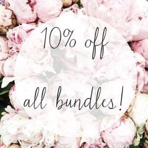 10% off all bundles of 2 or more items!!!